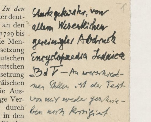 Marginalie Walter Benjamin