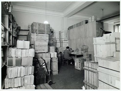 Räume der Reichstauschstelle im Bibliotheksgebäude Unter den Linden (Foto: Bundesarchiv, Akte R 4901/ 15094)