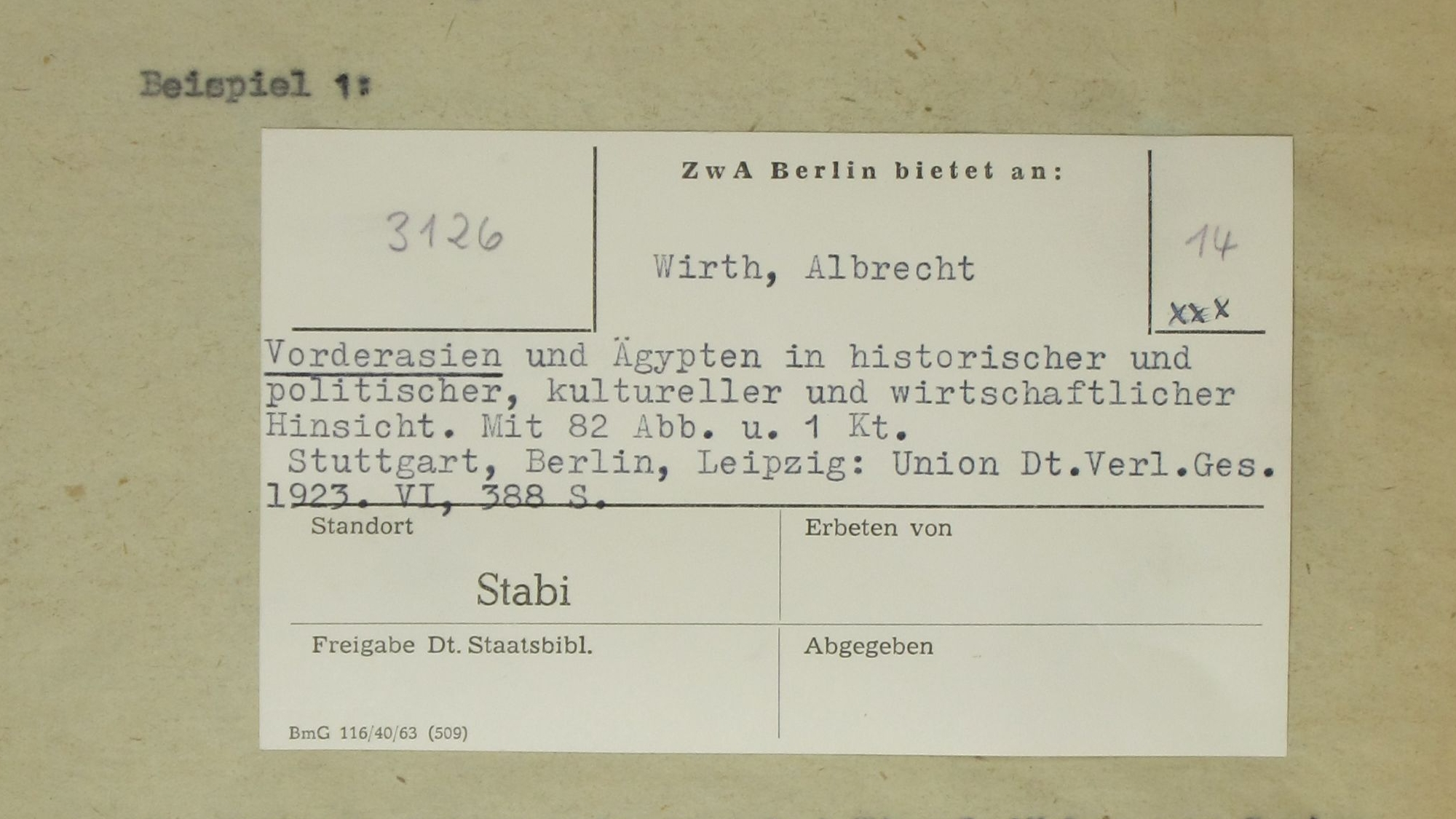 ZwA Berlin, Beispiel